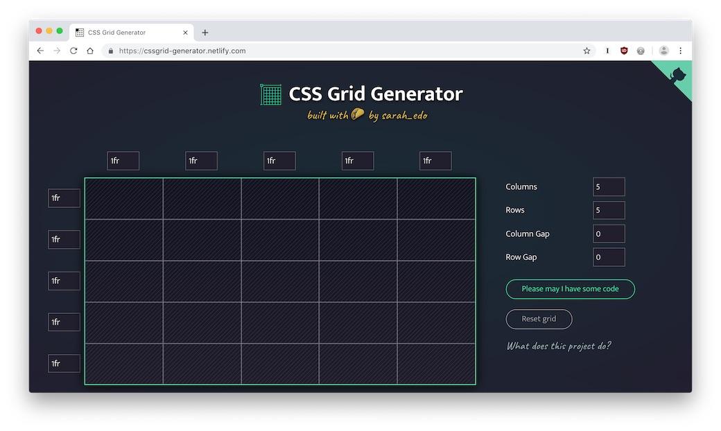 CSS grid generator | Go Make Things