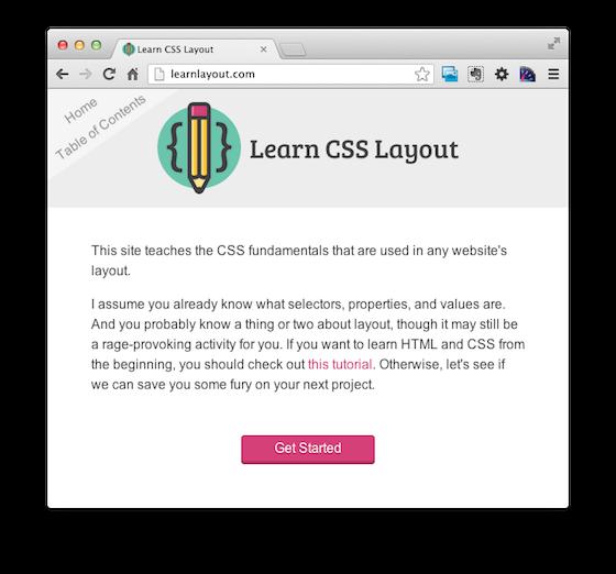 A screenshot of LearnCSSLayout.com