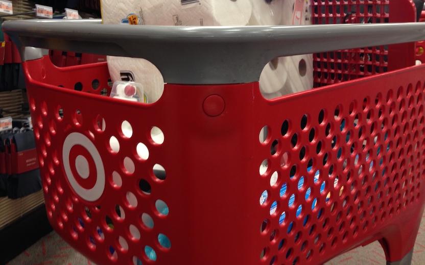 A Target shopping cart